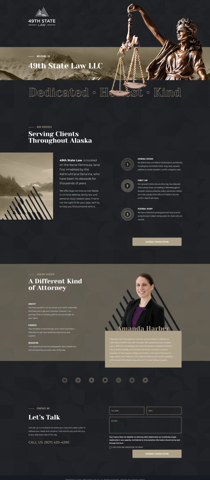 49th State Law Website Design