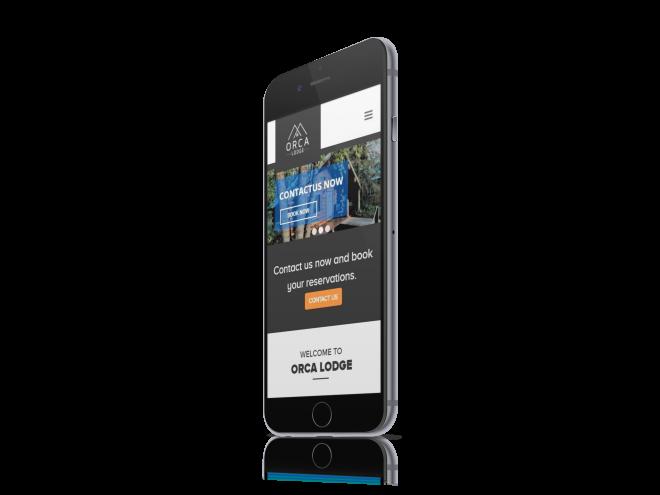 Orca Lodge Website Design Mockup