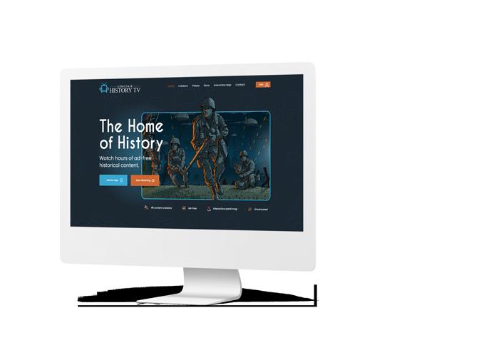 Armchair History Website Mockup