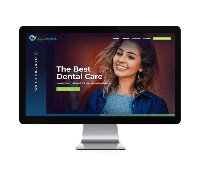 Columbia River Dentistry Website Mockup