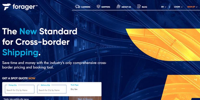 Forager Website Design Snippet