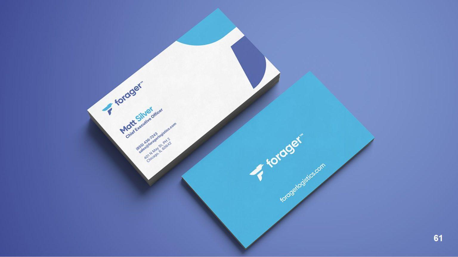 Forager Business Card Design