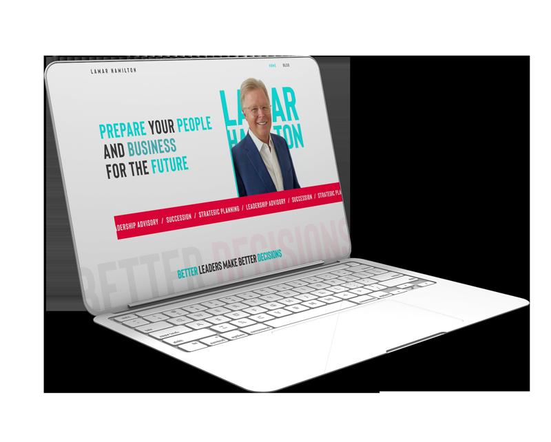 Lamar Hamilton Website Mockup