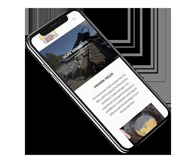 Hope Mining Co. Website Mockup