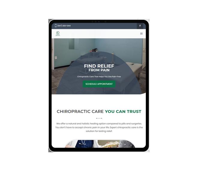 Koob Chiropractic Website Mockup