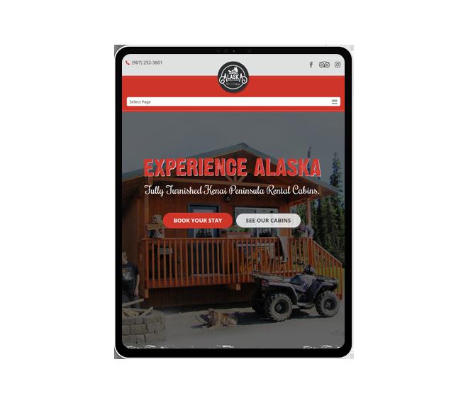 Alaska Moose & Spruce Website Mockup