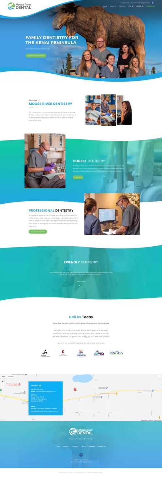 Moose River Dental Website Design