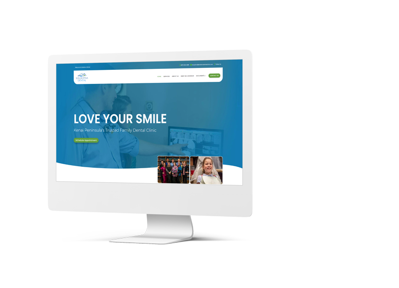 Soldotna Dental Website Mockup