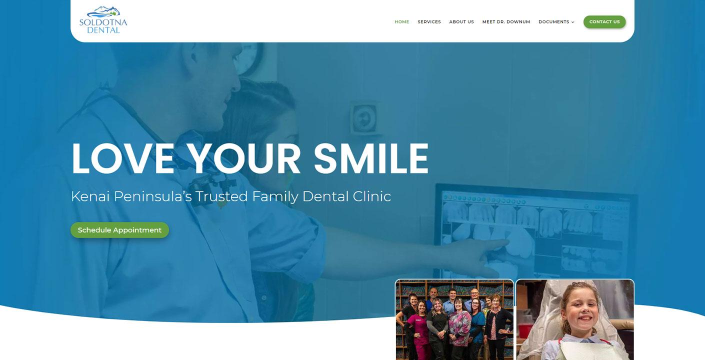 Soldotna Dental Website Snippet
