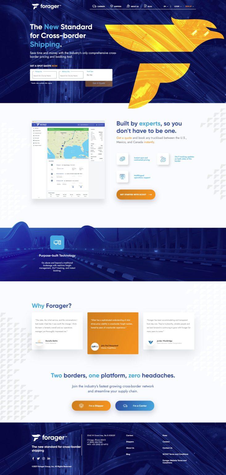 Forager Website Design