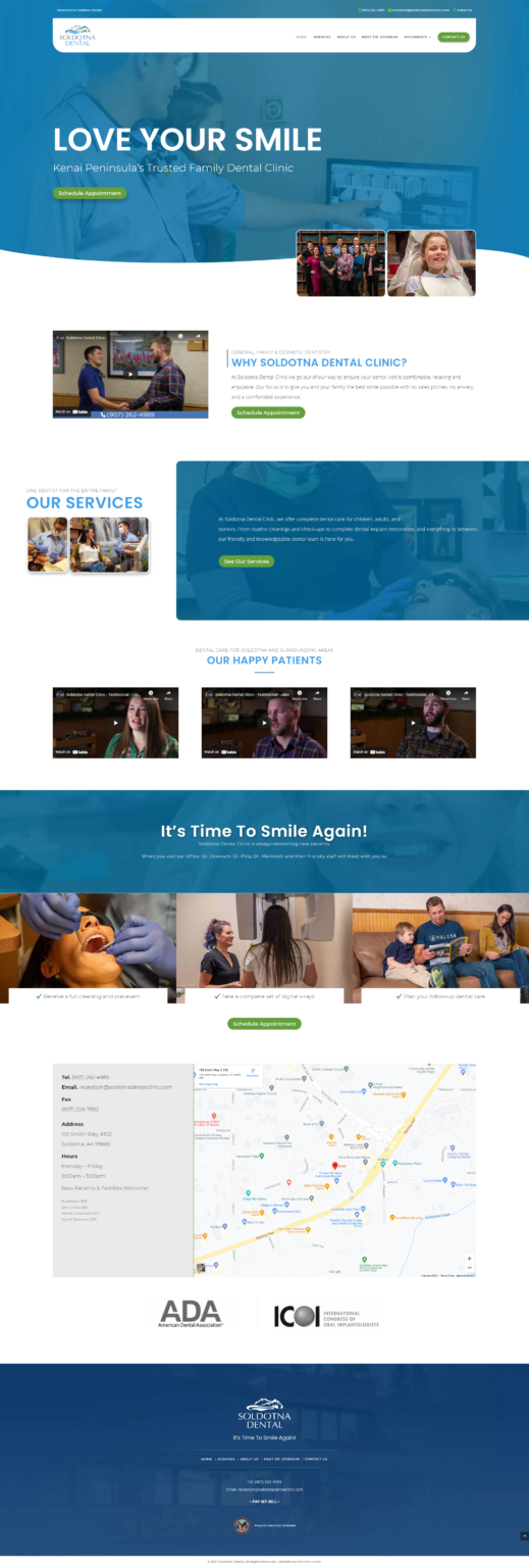 Soldotna Dental Website Design