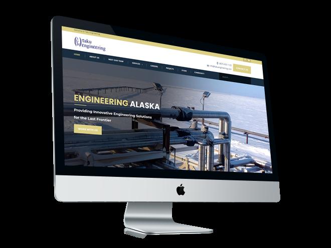 Taku Engineering Web Design Mockup
