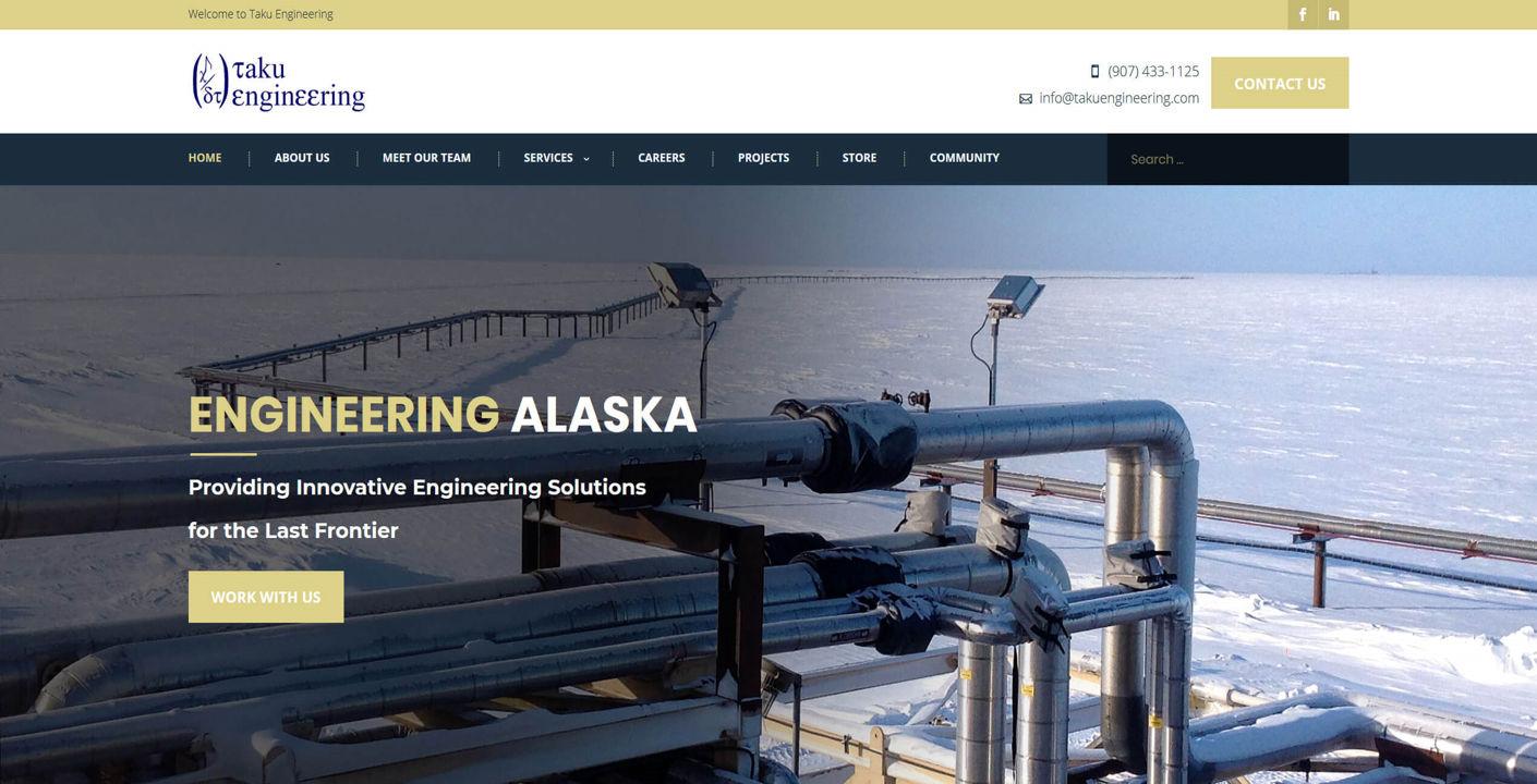 Taku Engineering Alaska Web Design