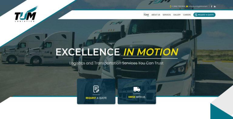 TUM Logistics Web Design