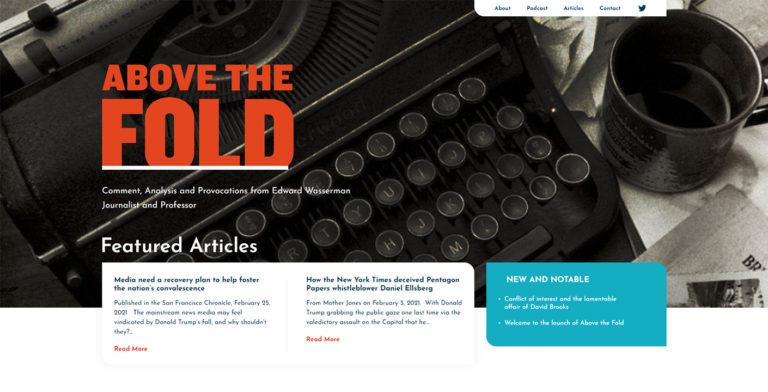 Ed Wasserman Website Design Snippet
